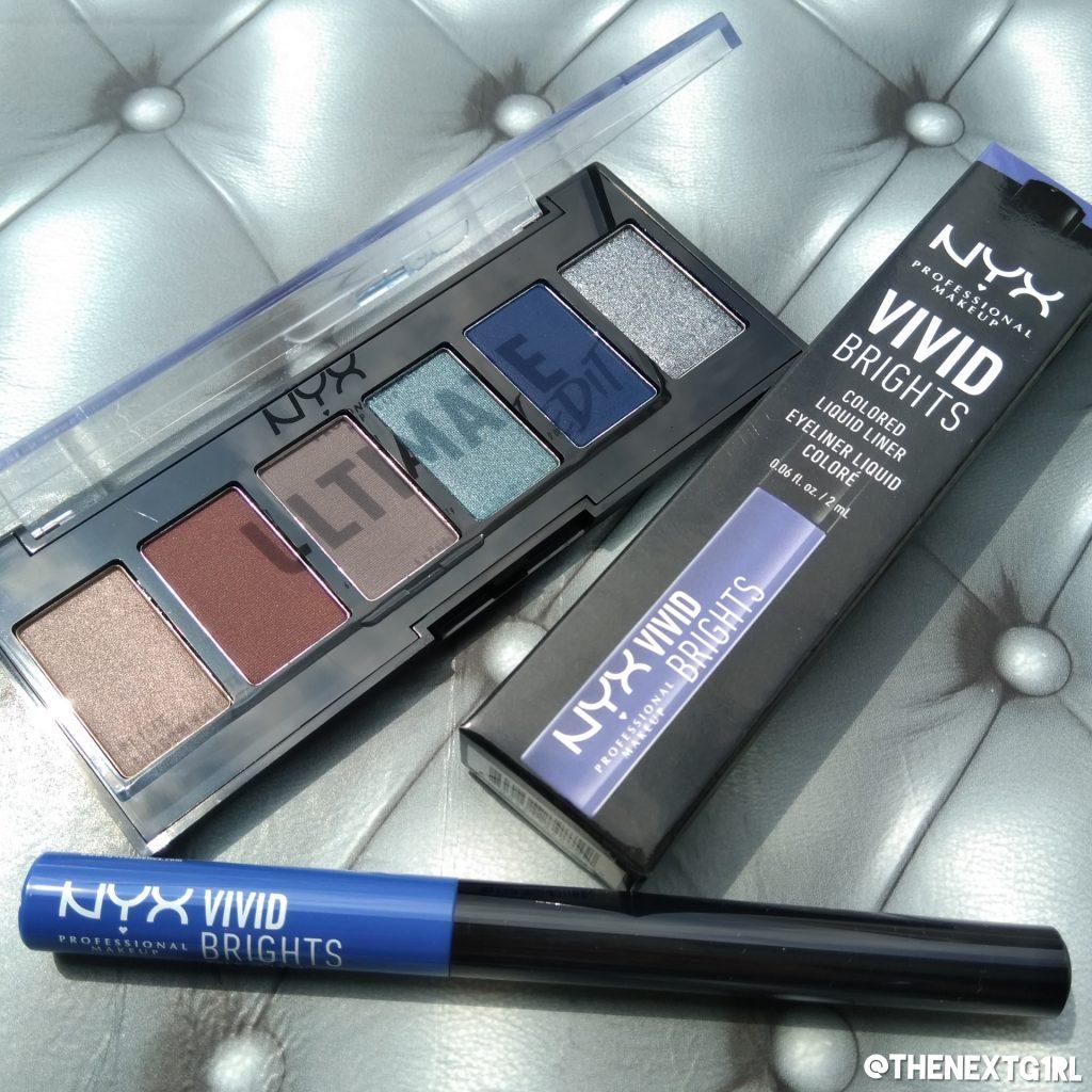NYX cosmetics eyeliner en Ultimate Edit oogschaduwpalette met zes kleuren oogschaduw