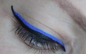 Ooglook met NYX Vivid Brights eyeliner
