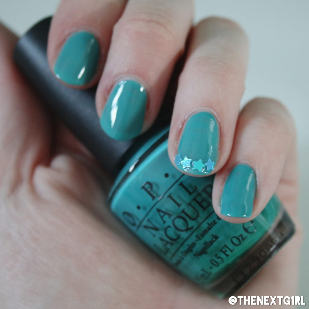 Nagellak OPI Fly nailart met sterren Starburst van House Of Sparklez UK op mijn nagels