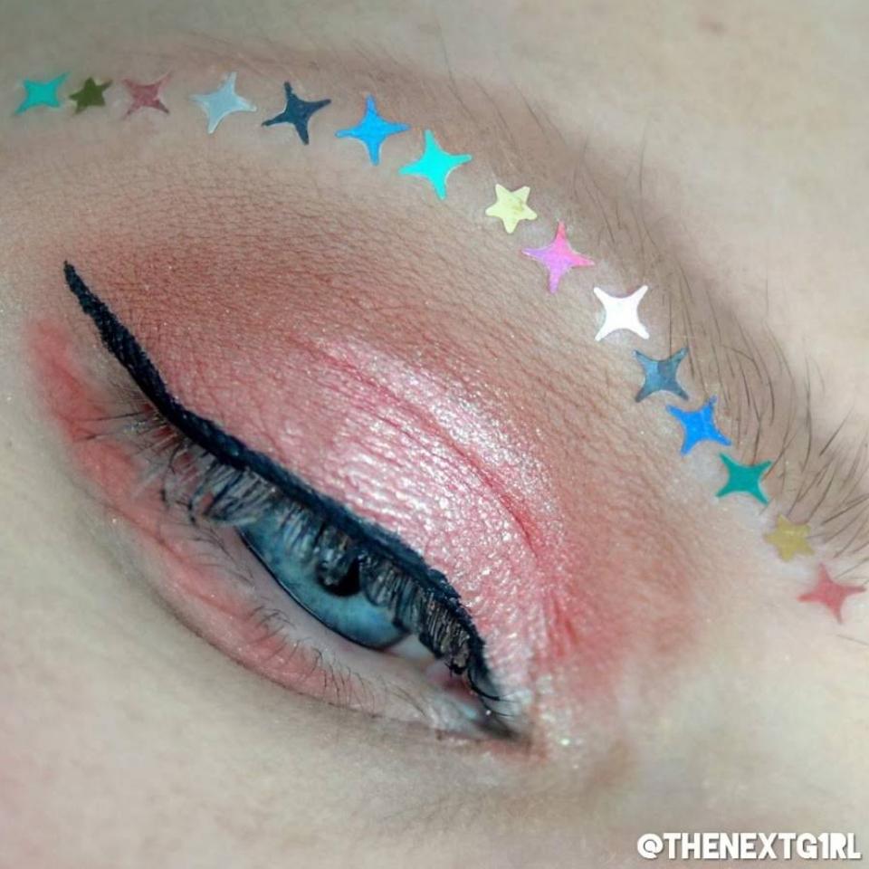 Ooglook met sterren in allerlei kleuren van House of Sparklez UK