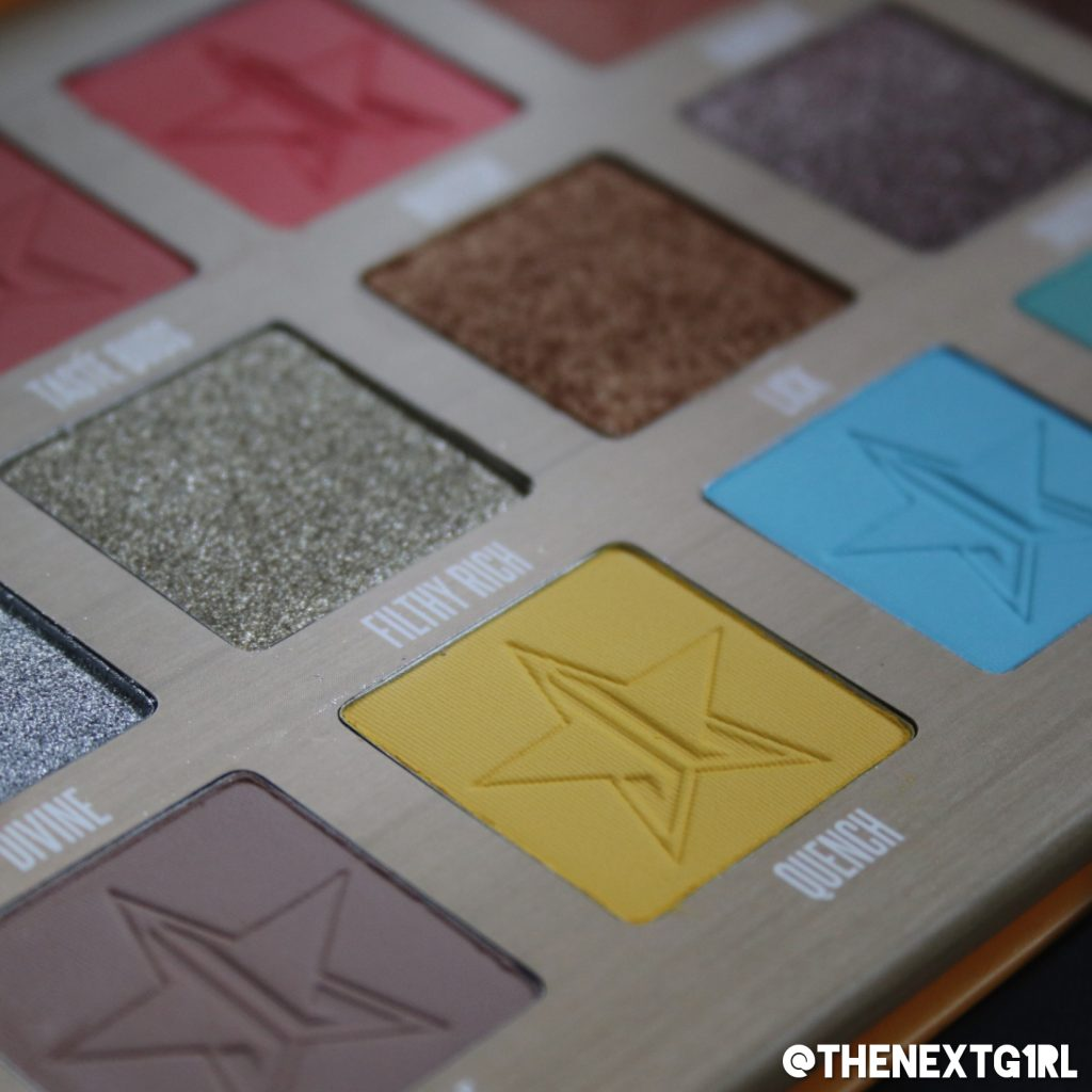 Jeffree Star Thirsty eyeshadow palette 2018 Close-up