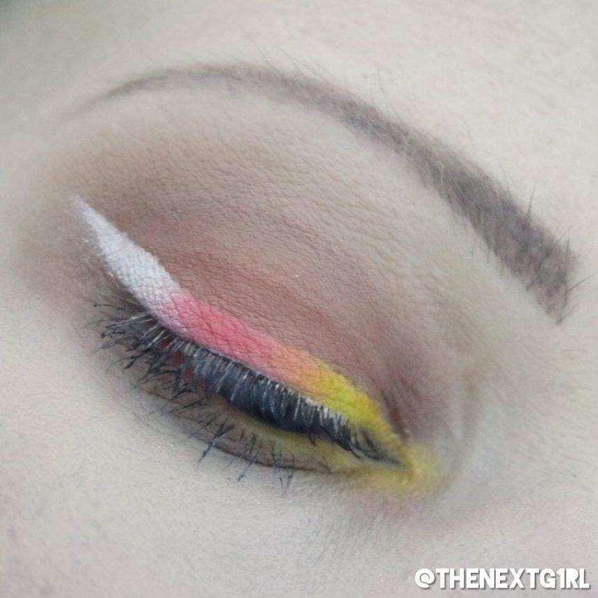 Thirsty ooglook met gekleurde wing