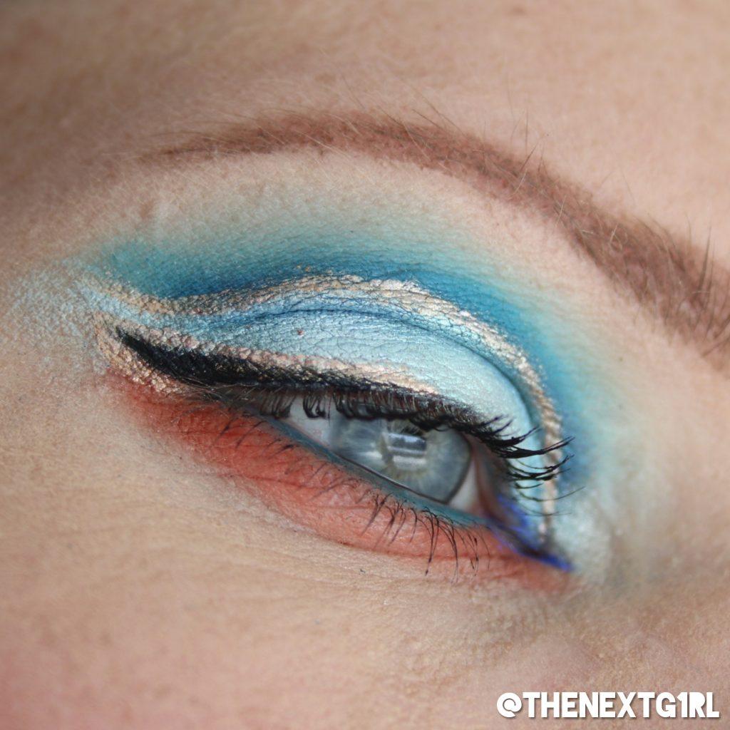 Ooglook blauw brons naar NikkieTutorials look
