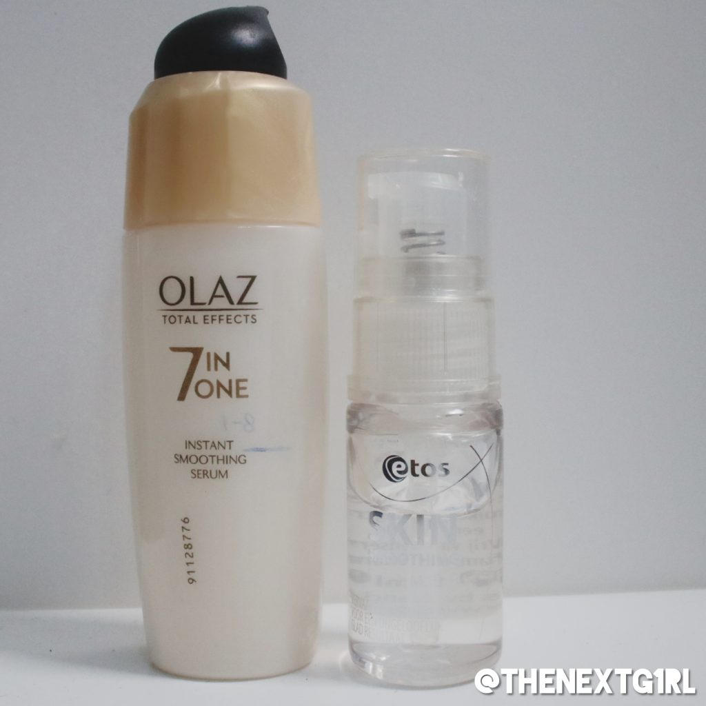 Project Pan producten van Olaz Total Effects en Etos Skin primer