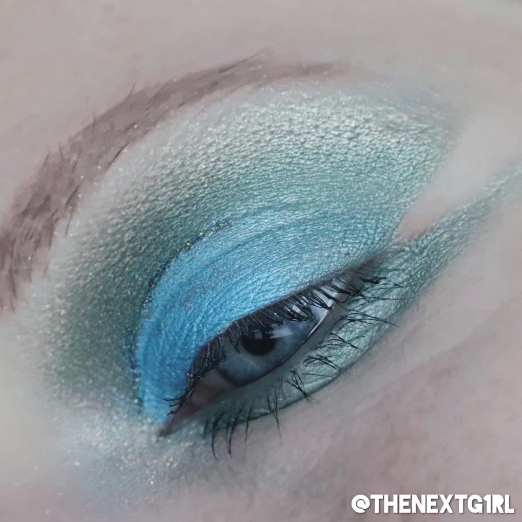 Ooglook met Sleek iDivine Original palette groen blauw