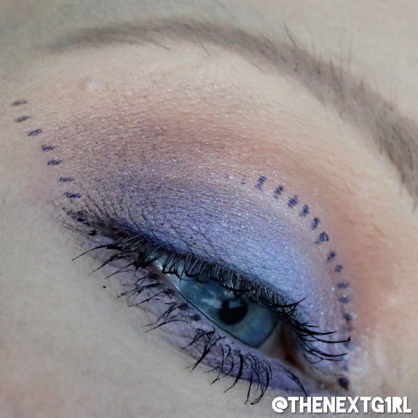 Ooglook met W7 Enchanted palette bruin lila paars