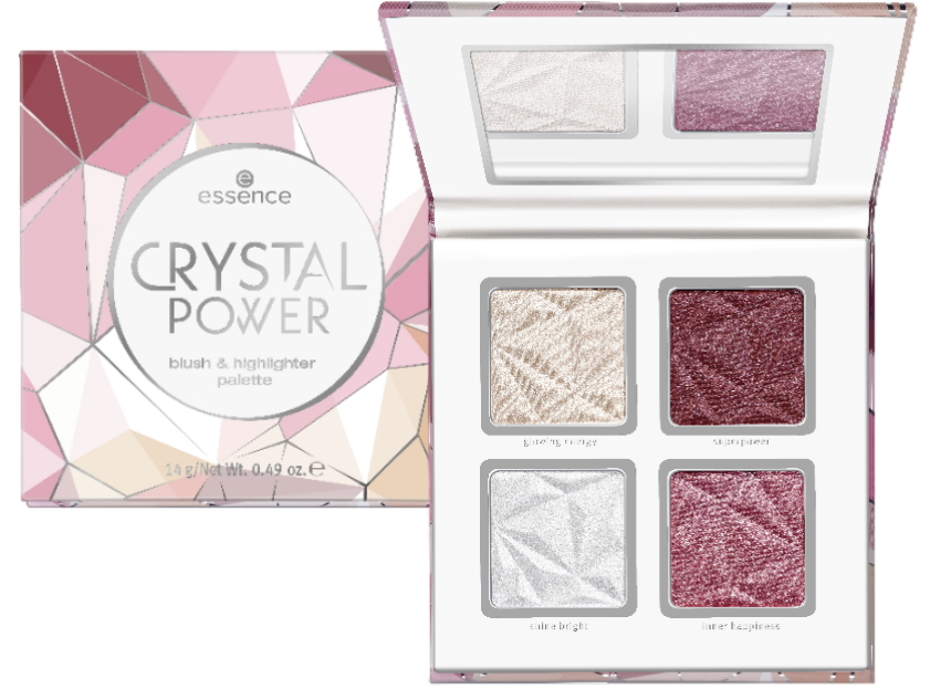 Essence herfst winter collectie 2019 Crystal Power blush highlighter palette