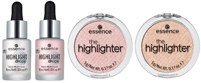Essence herfst winter collectie 2019 highlighter drops poeder