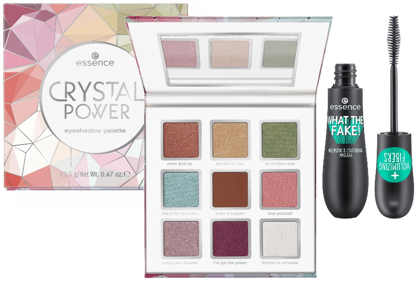 Essence herfst winter collectie 2019 oogschaduwpalette Crystal Power mascara What the fake