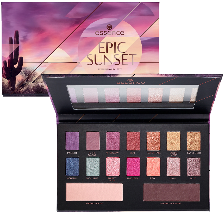Essence herfst / winter 2019 collectie update Epic Sunset oogschaduwpalette