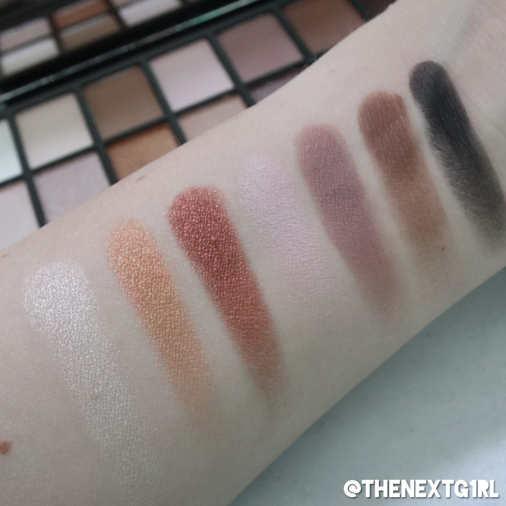 Swatches Makeup Revolution Iconic Pro 1 palette