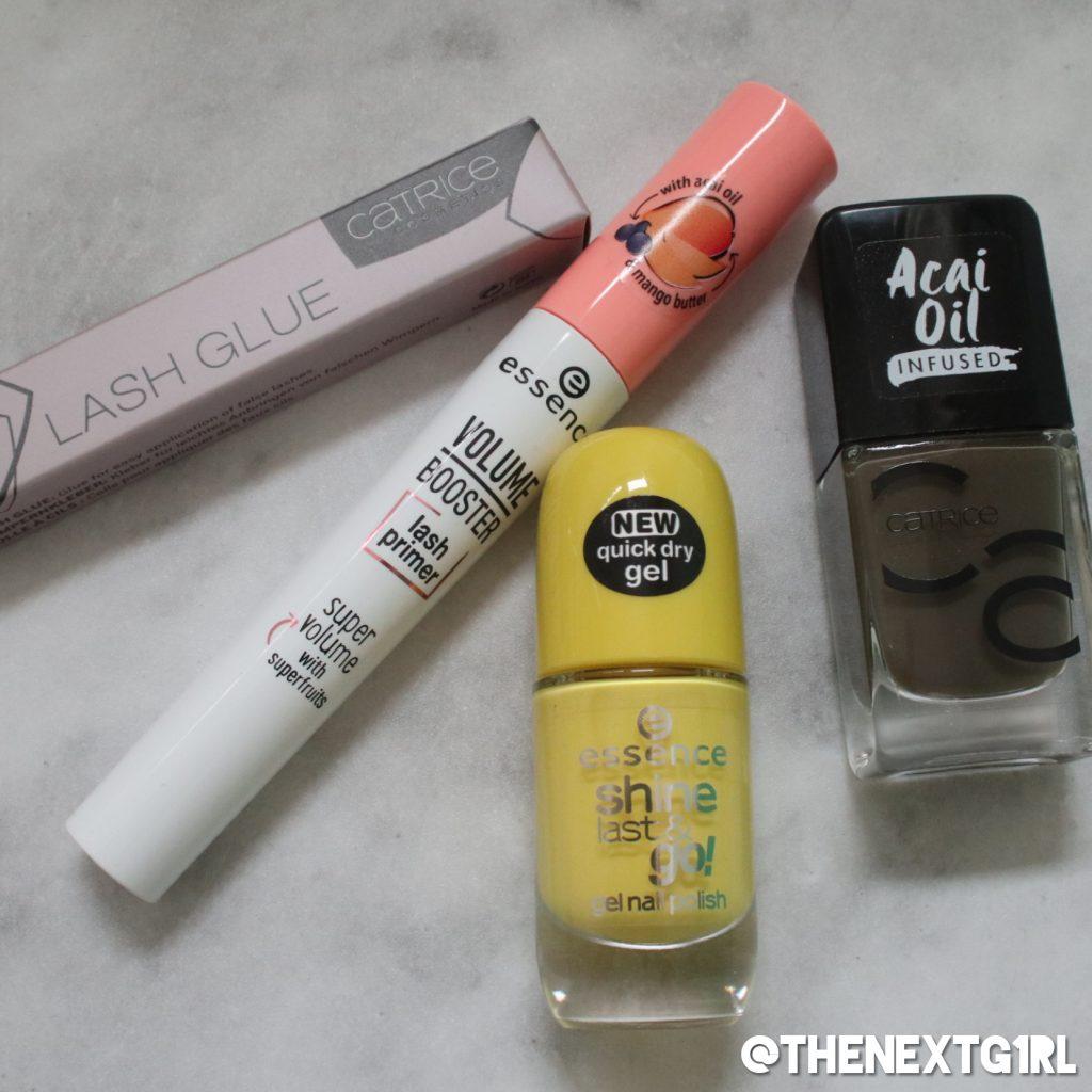 Shoplog items van Kruidvat Catrice wimperlijm Essence mascara primer