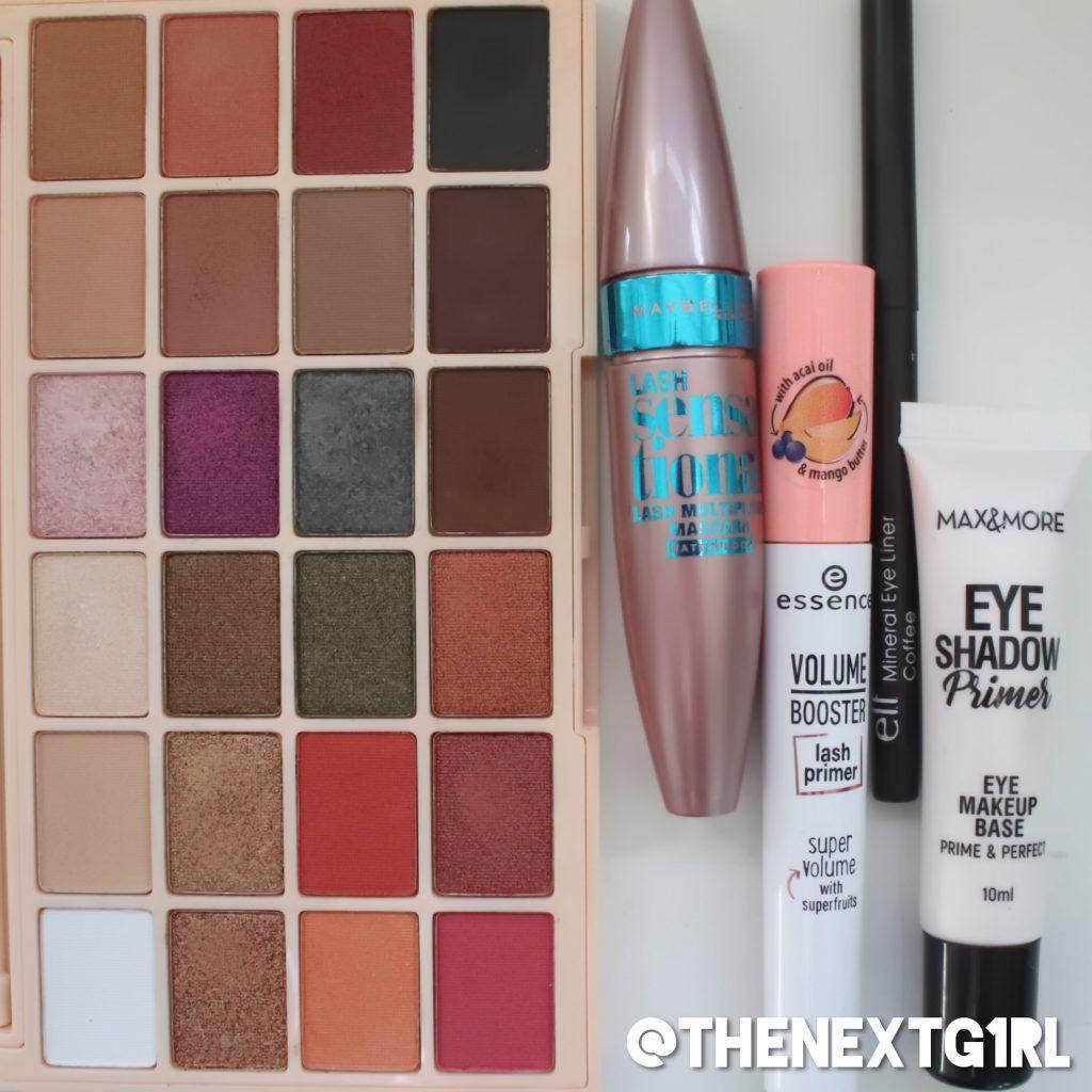 Gebruikte producten smokey ooglook met Makeup Revolution x Soph oogschaduwpalette