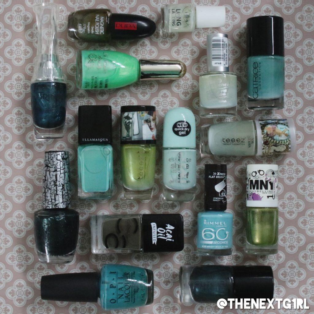 Stashpeek groene nagellak collectie van OPI, Catrice, Illamasqua, TEEEZ, Essence en meer