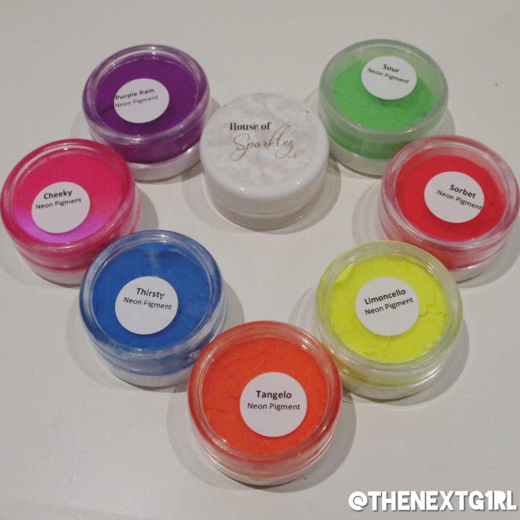 Losse Neon oogschaduw pigmenten House Of Sparklez UK
