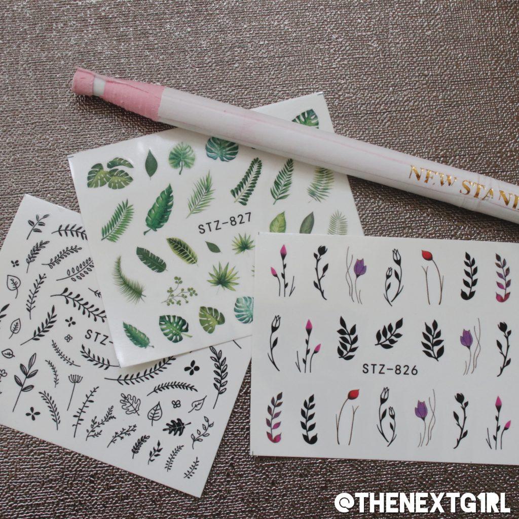 Nailart wax pen en water decals gekocht shoplog online