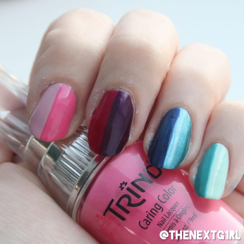 Regenboog nagellak nagels Trind simpele nailart