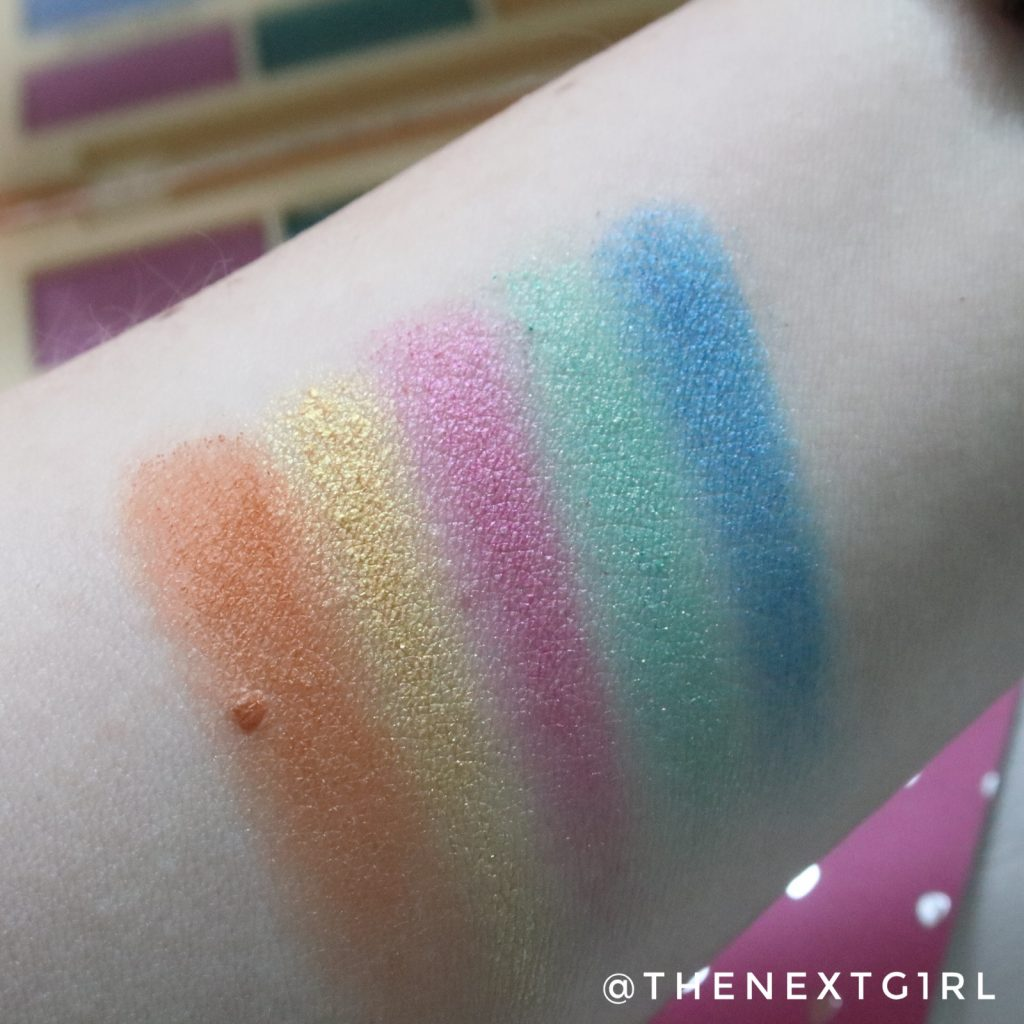 Makeup I heart Revolution Sprinkles palette swatches