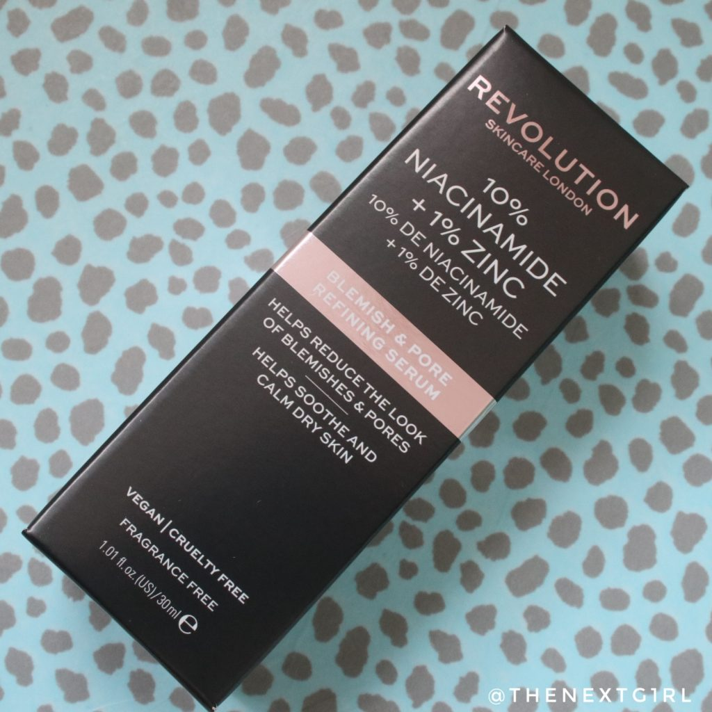 Makeup Revolution Blemish & Pore refining serum verpakking
