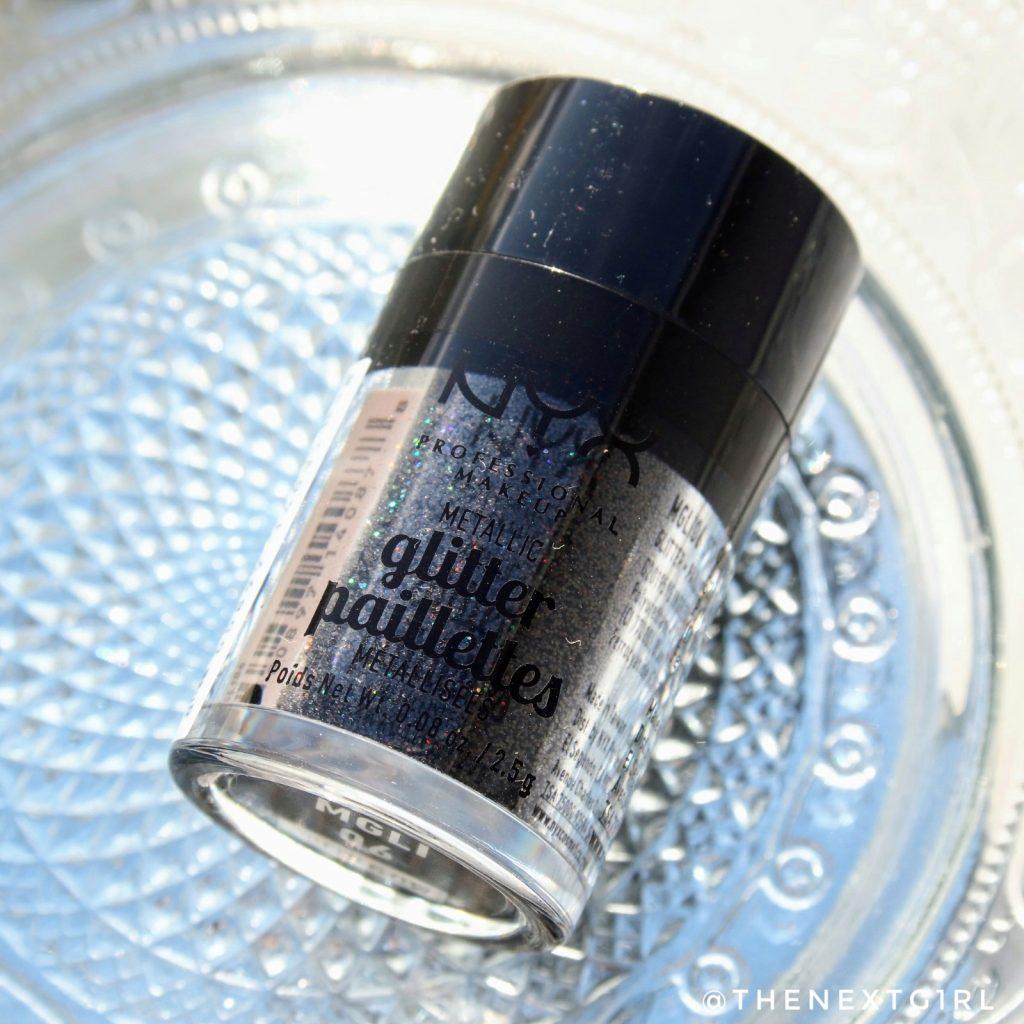 NYX glitterprimer glitter paillettes zwart