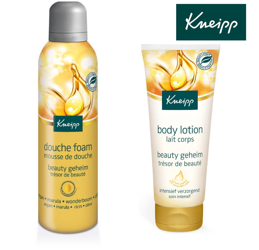 Kneipp beauty geheim douchefoam bodylotion