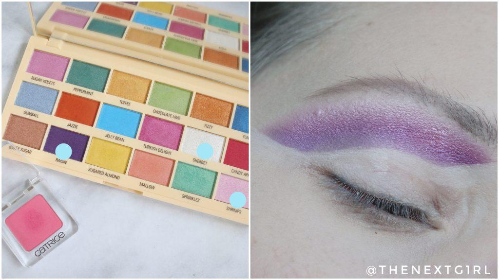 Ooglook kleurvlakken I Heart Revolution Sprinkles palette Stap 2