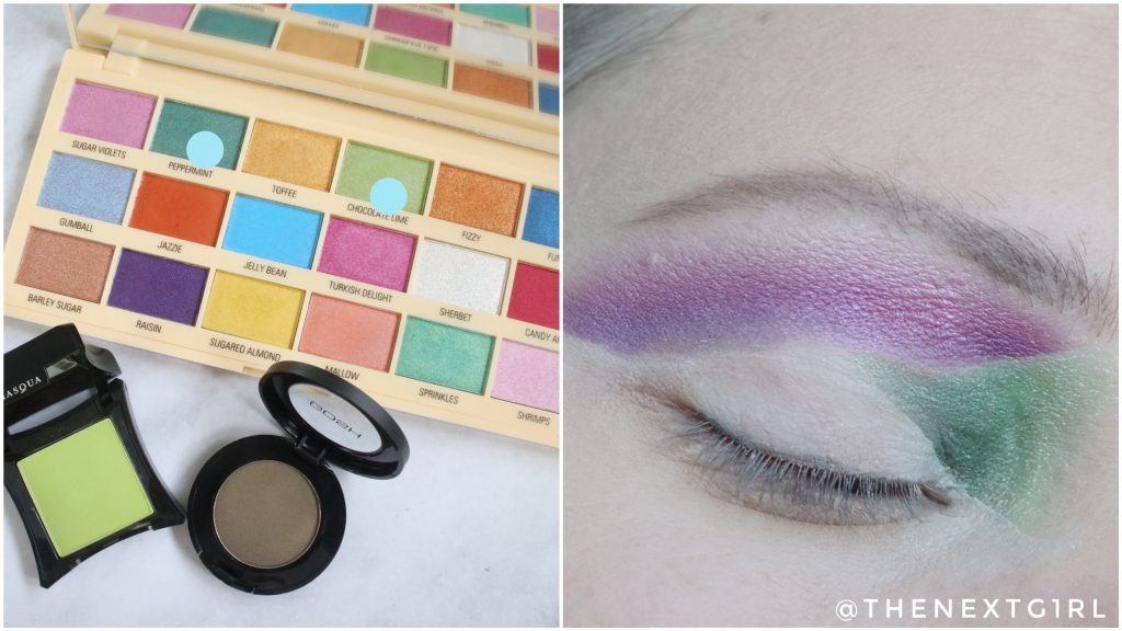 Ooglook kleurvlakken I Heart Revolution Sprinkles palette Stap 3