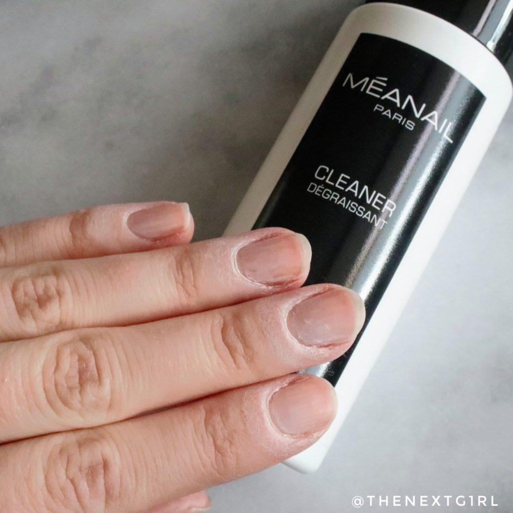 Voorbereiden nagels schoonmaken met Cleaner Méanail