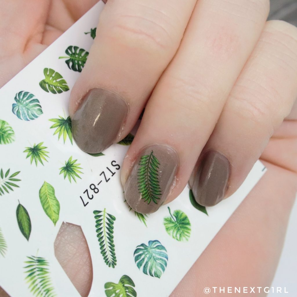 Nailart water decal aanbrengen op nagel