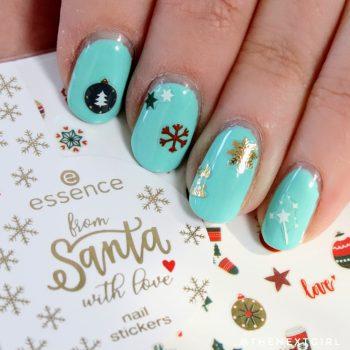 Nailart met kerst nagelstickers