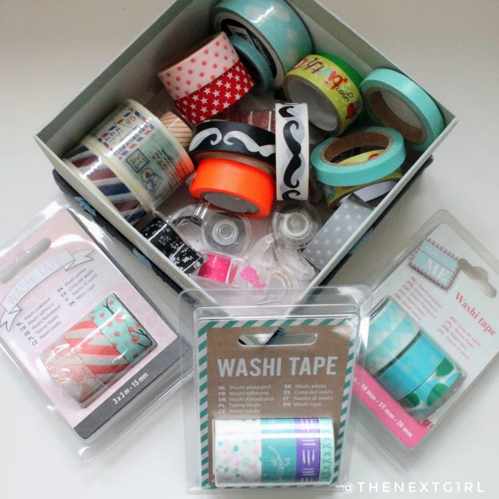 Washi tape gekleurde plakband versiering bujo
