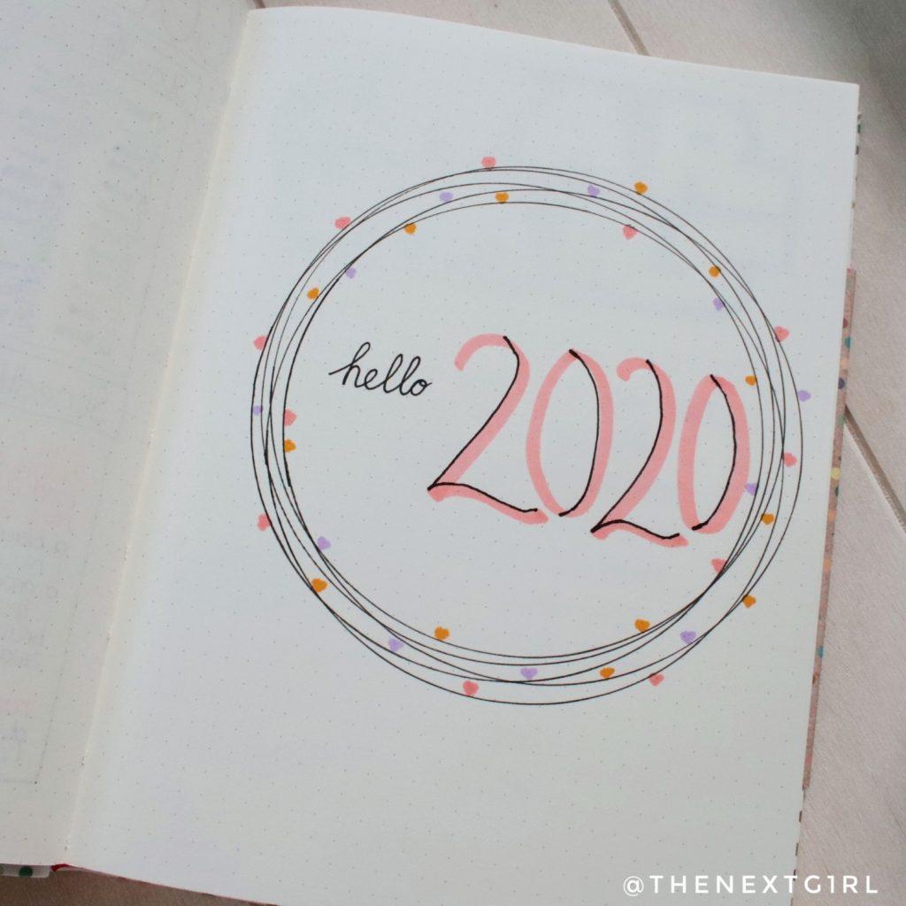 Bullet Journaling hello 2020 inspiratie