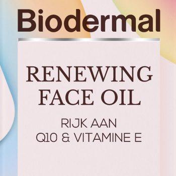 Nieuwsflits: Biodermal Renewing Face Oil