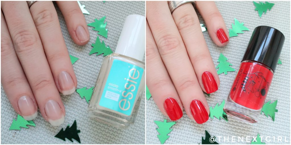 Basis kerst nailart OPI Essence Essie nagellak
