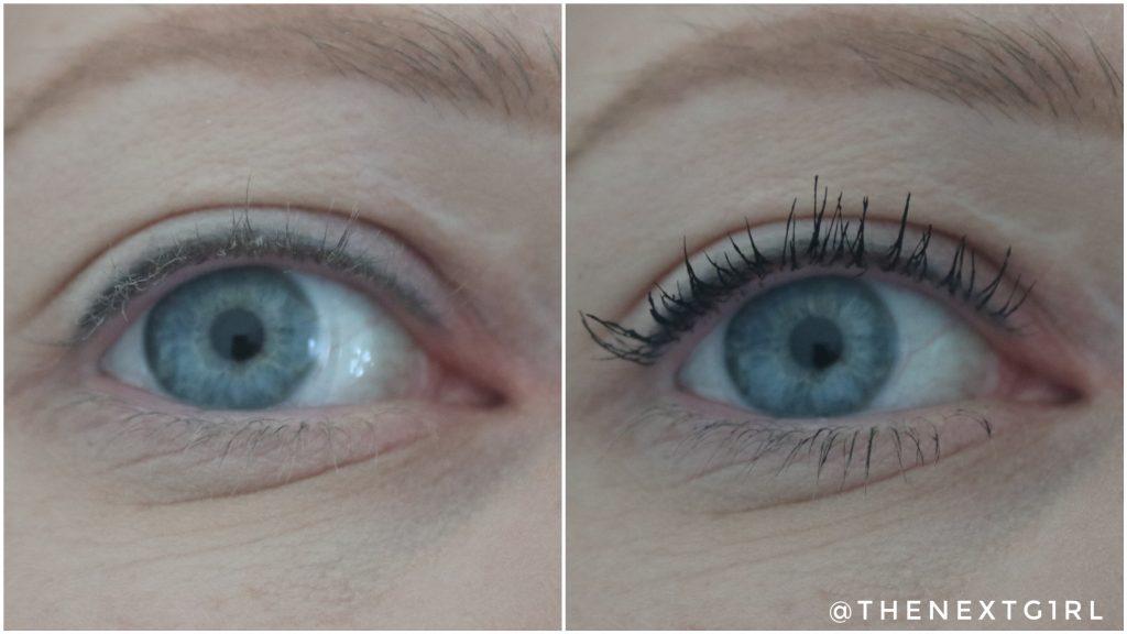 Vergelijkingsfoto mascara Maybelline
