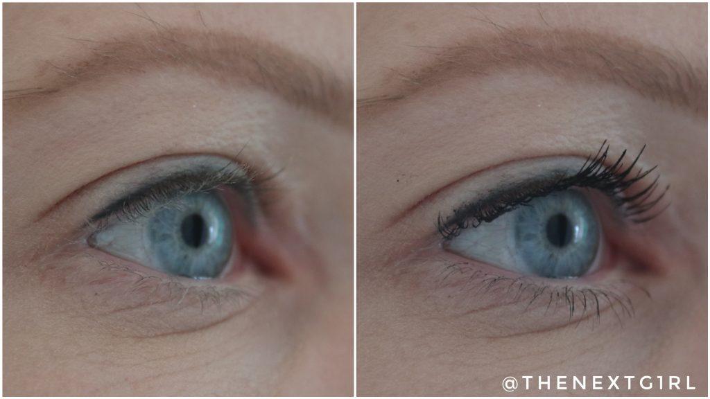Vergelijkingsfoto mascara Volum' Express