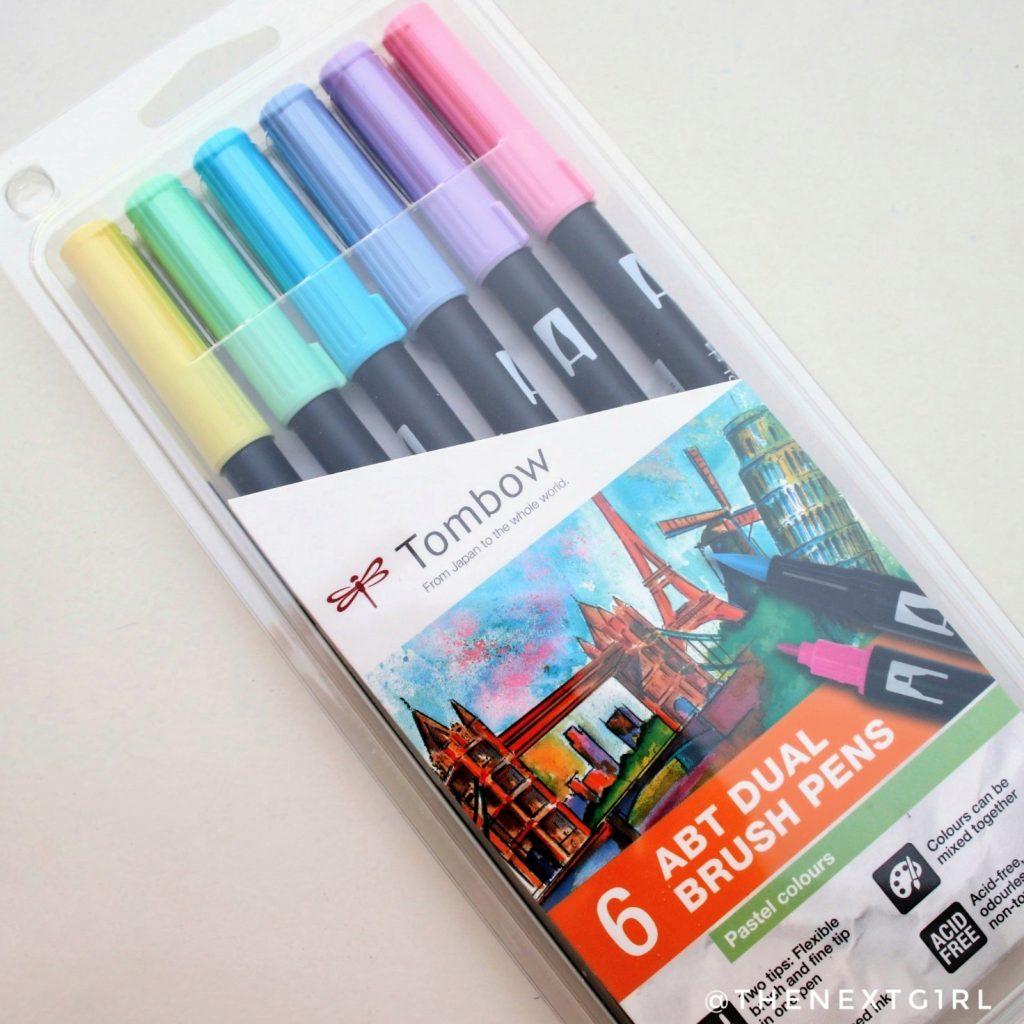 Tombow ABT Dual Brush Pens pastelset