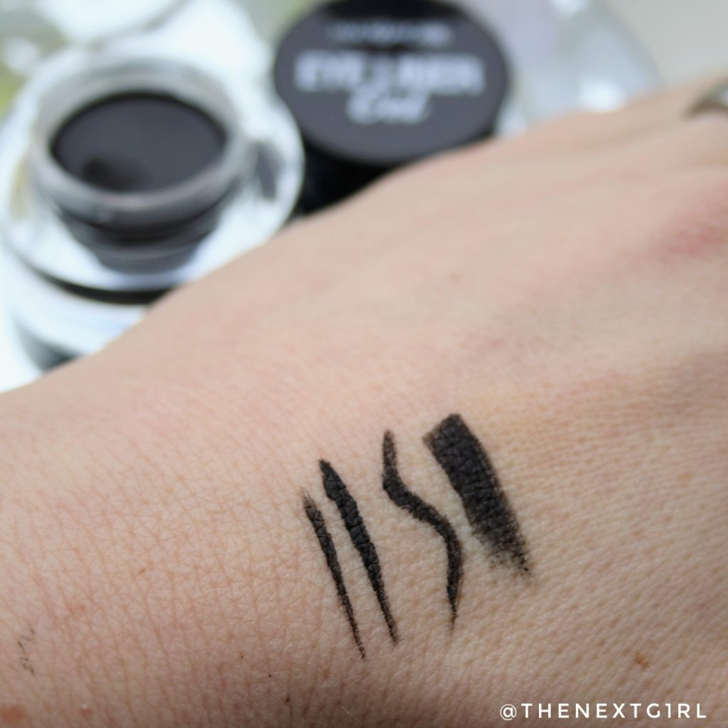 Max&More eyeliner gel swatches