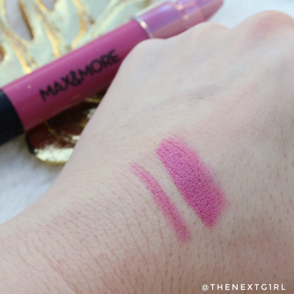 Max&More Roze Lipbalm 346 Voluptuous swatch