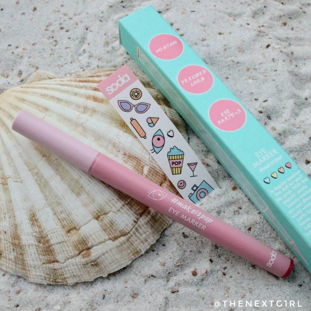 Soda Makeup Kruidvat eyemarker makeitpop stickers roze