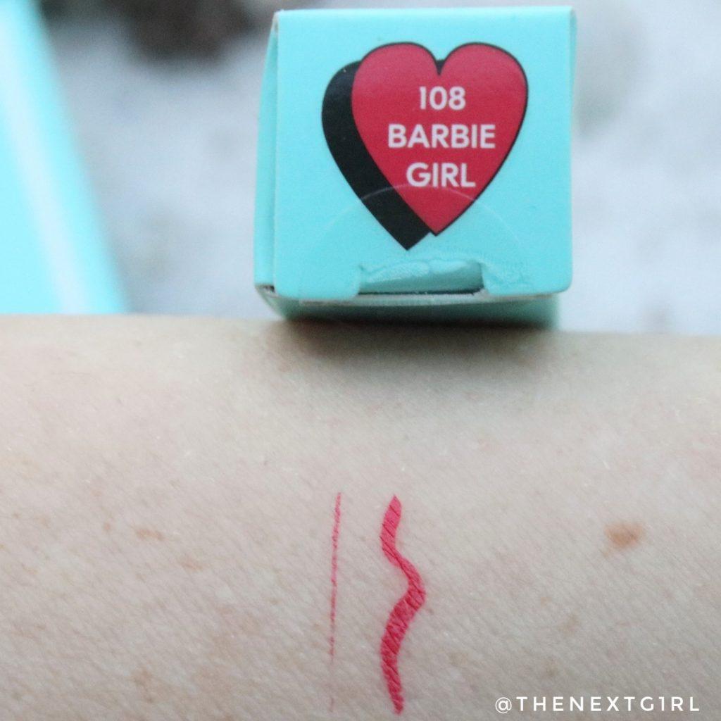 Soda Makeup Kruidvat swatch eyemarker 108 barbiegirl