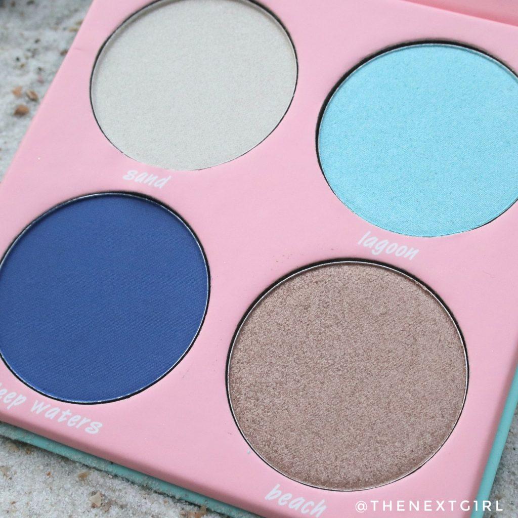 Soda Makeup Kruidvat oogschaduw palette mermaid zeemeermin blauw