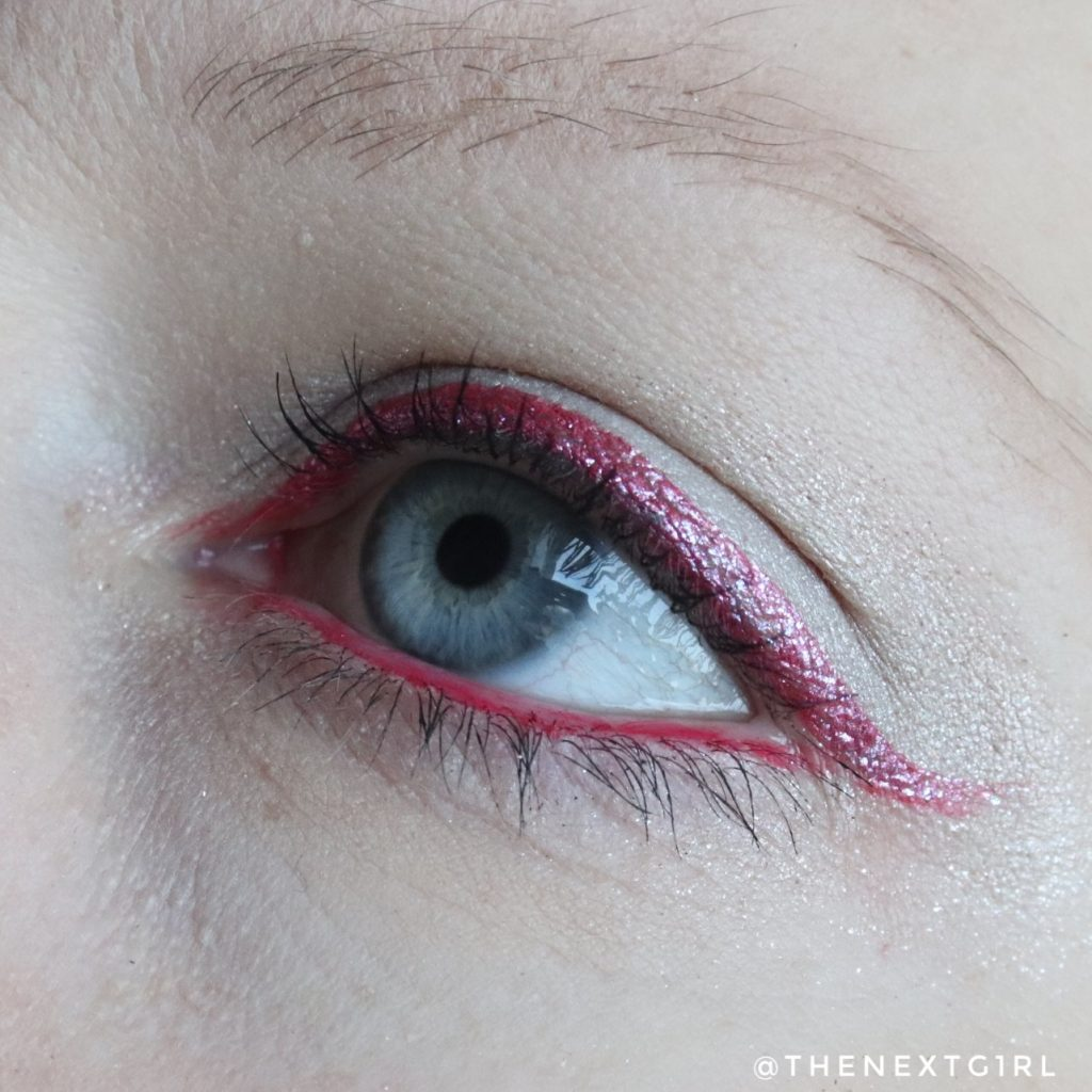 Soda Makeup Kruidvat ooglook eyemarker eyeliner roze glitter