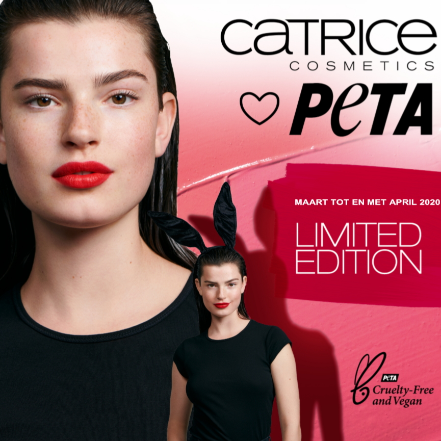Catrice loves PETA Limited edition lipsticks square