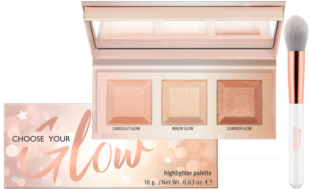Essence CHOOSE YOUR Glow highlighter palette brush