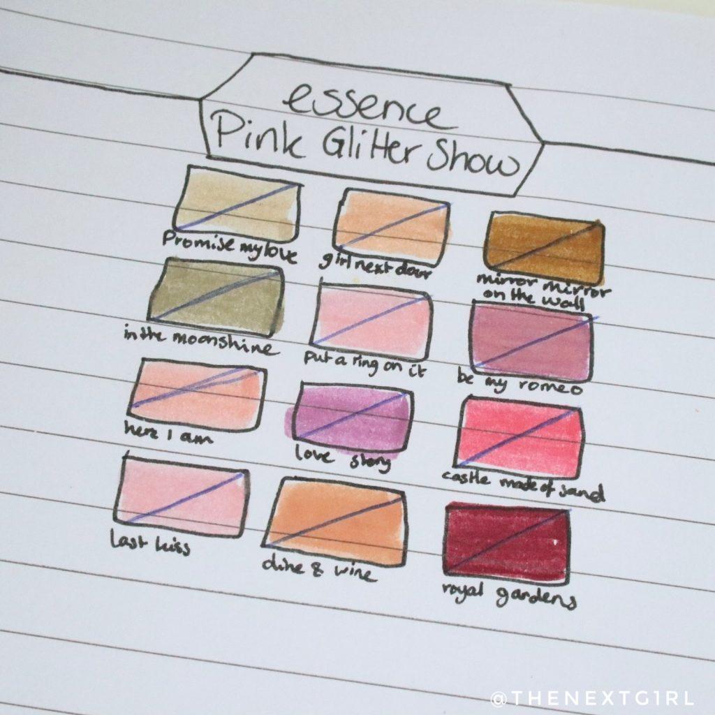Essence Pink Glitter Show No Palette Left Behind