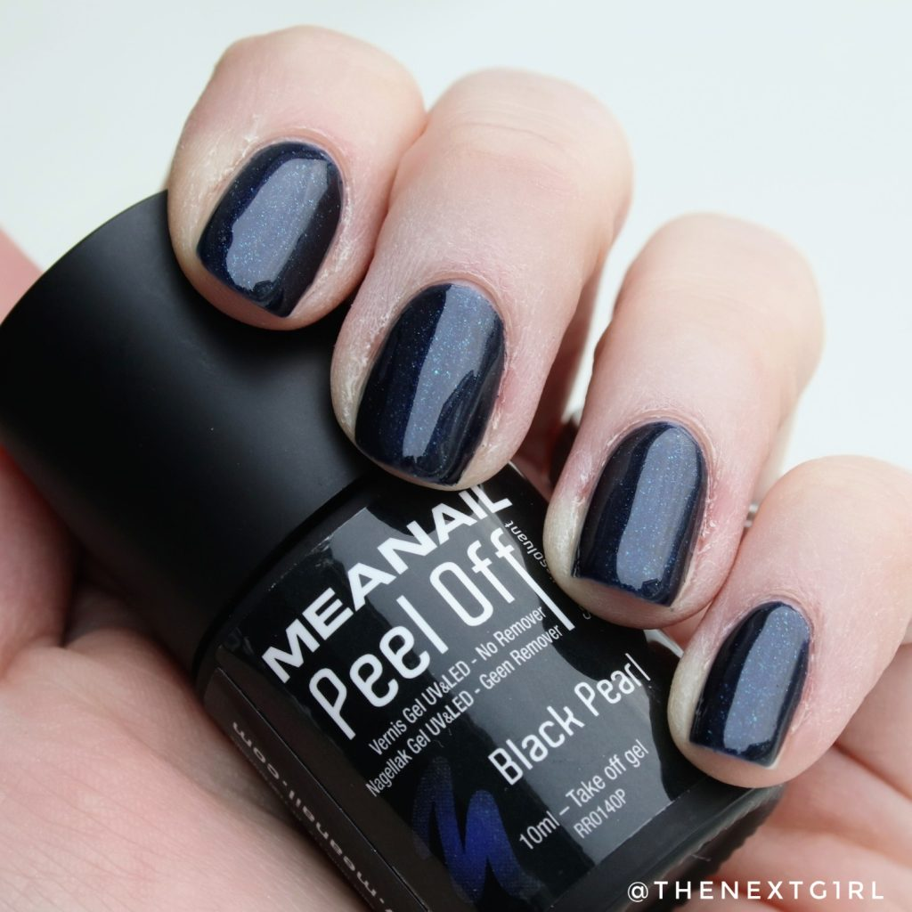 Meanail paris peel off nagellak blauw Black Pearl swatch