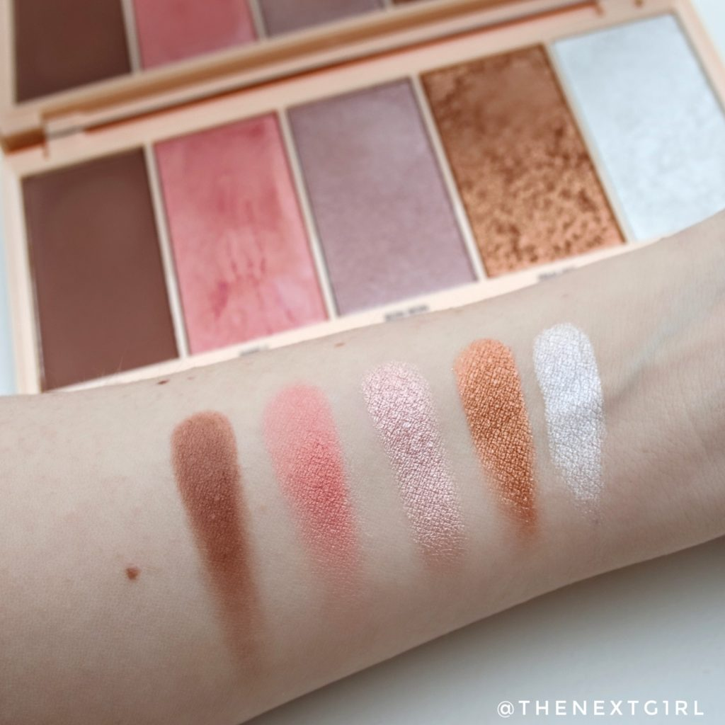 I heart Revolution Praline facepalette swatches