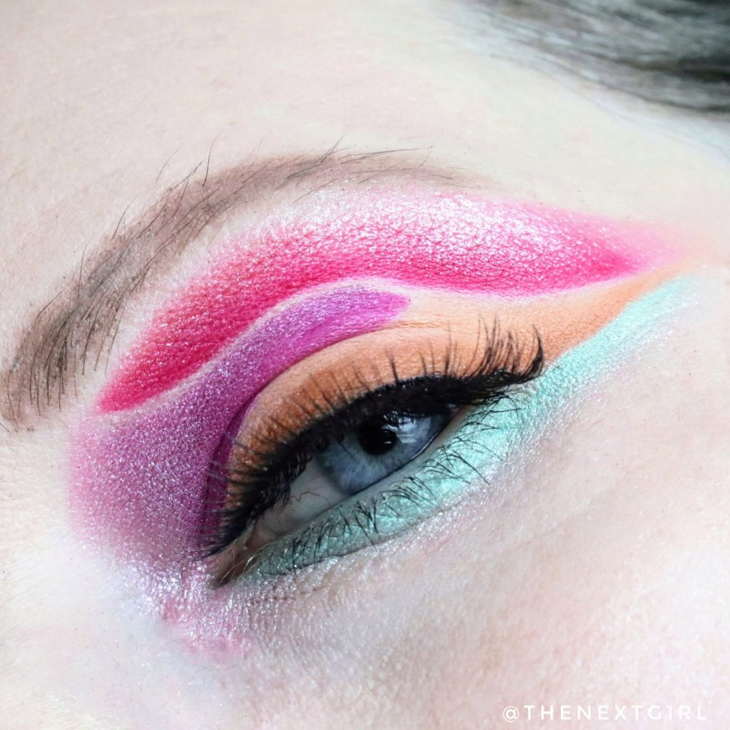 50/50 makeup Spring Palette look