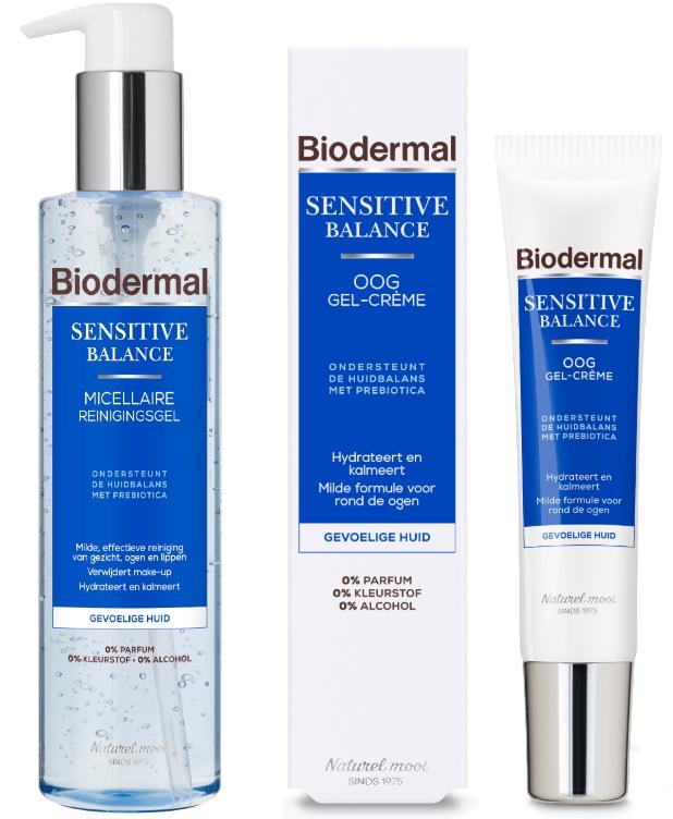 Biodermal Sensitive Balance micellaire reinigingsgel oog gel-creme
